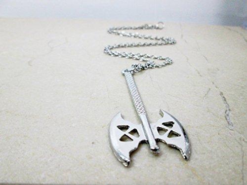 Antik Silber Schlacht Axt Halskette Zwerg Cosplay Halskette Film Fandom Jewelry Herren Stärke Halskette Brother Freund Geburtstag Geschenk für ihn