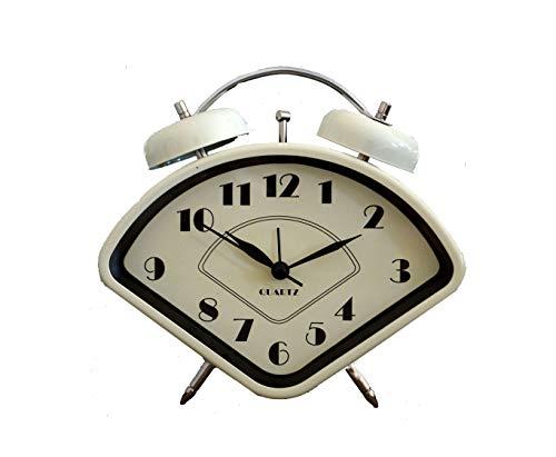 (Unkaz Wecker Glockenwecker Retrowecker Metall Deko im aktuellen Vintage Design)
