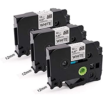 5X Compatible Label Tae Replacment for Brother P Touch TZe-231 TZe231 12mm 0.47 Black on White Laminated Label Tape 12mm x 8m for PT-H101C GL-H100 PT-1000 GL-H105 GL-200 PT-1080 PT-2030 Label Makers