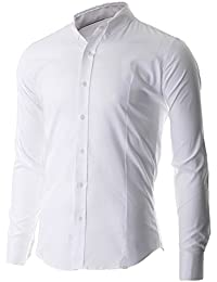 FLATSEVEN Chemise Oxford Slim Fit Casual Col Boutonné Homme