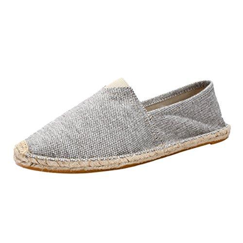 Dooxi Unisex-Erwachsene Liebhaber Freizeit Loafers Comfort Espadrilles Mode Slip on Flach Freizeitschuhe 45(27.5cm)