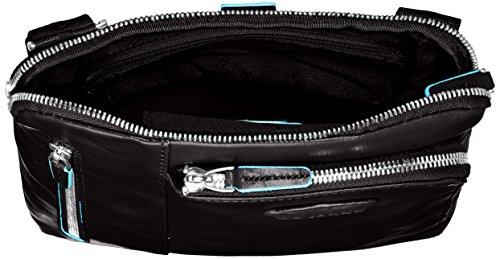 Piquadro -  - Sac de messager mixte adulte, marron (), Noir
