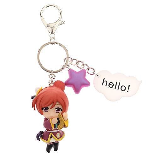 ALTcompluser Anime Love Live Mini Figur Karabiner Schlüsselanhänger Schlüsselbund PVC Anhänger, Dekoration für Tasche/Rucksack(Maki Nishikino) - Love Nishikino Live Maki