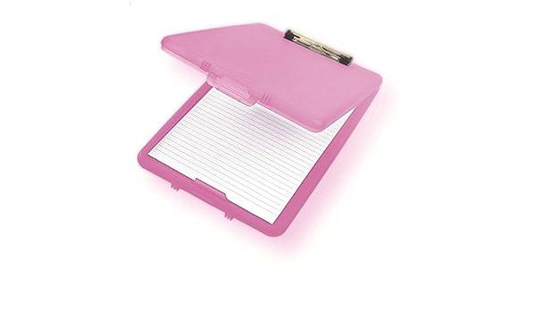 A4 Kunststoff Kompakt Klemmbrett Papier Aufbewahrungsbox Wasserdicht Langle B2R2