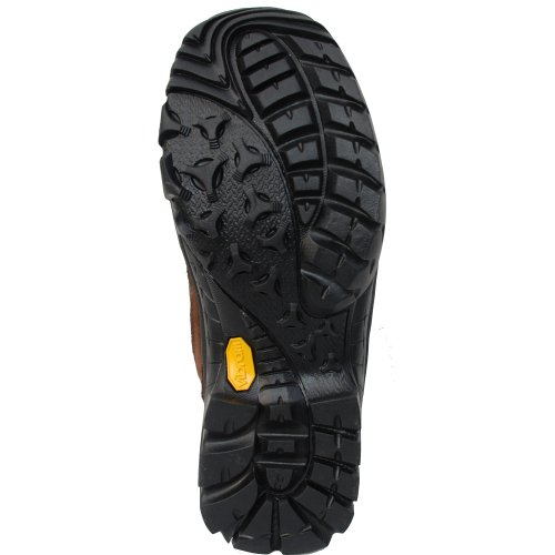 C. SWAIN Men Outdoor Trekking Shoes CALGARY with Vibram, Colour: Taupe/Black/Orange, Size: 40 Taupe/Black/Orange