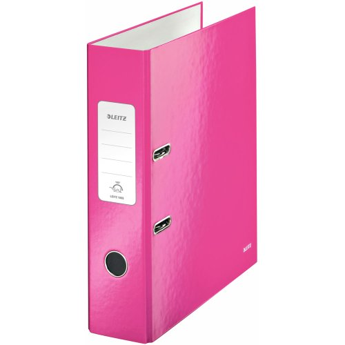 Leitz 180 WOW Lever Arch File - pink metallic