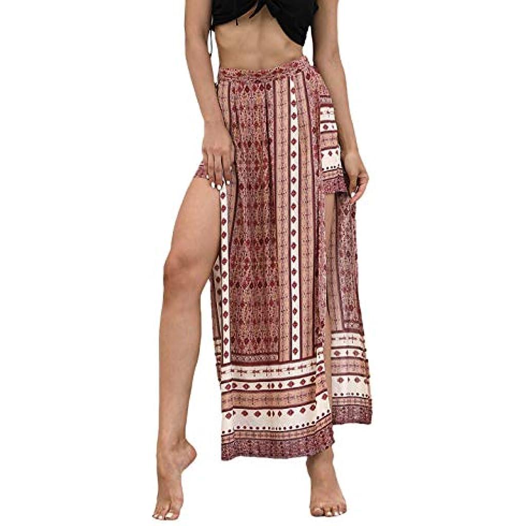 Huixin Otono Verano Pantalones Falda Mujer Elegante Falda Pantalon Mujer Largo Flor Diamante Falda Ropa Abiertas Faldas Larga Shorts De Cintura Alta Coloreado Manera De La Playa Casual Falda Senoras