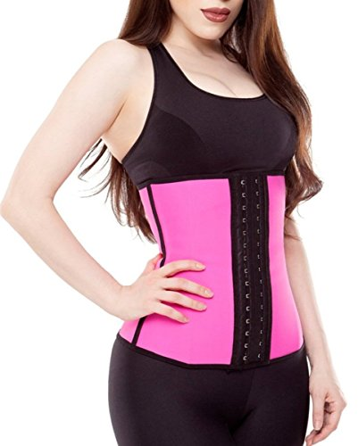 Women's Breathable Elastic Waist Trainer Cincher XS to 6XL Lace Shapewear Steel Boned Corset (3XL, Rose2) (Lingerie New Womens)