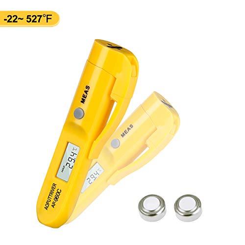 Mini IR Temp Gun Infrarot Thermometer,IR-Laserthermometer,Berührungslose,Kontaktlos Digital Temperaturmessgerät Inkl,Gürtelclip,Digitale Temperaturpistole -30-275 ℃ (-22-527 ℉)