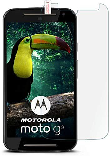moex 9H Panzerfolie für Motorola Moto G2 | Panzerglas Bildschirm Glasfolie [Tempered Glass] Screen Protector Glas Bildschirmschutz-Folie für Motorola Moto G 2. Generation Schutzfolie