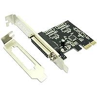 Approx APPPCIE1P tarjeta y adaptador de interfaz - Accesorio (PCIe, Paralelo, PC, Aluminio, Negro, 13 cm, 14 cm)