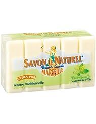 Savon le Naturel - Vértiable Savon de Marseille Extra Pur au Chèvrefeuille x5 - 100 g