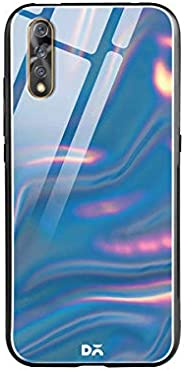 DailyObjects Blue Holo Satin Glass Case Cover for Vivo S1