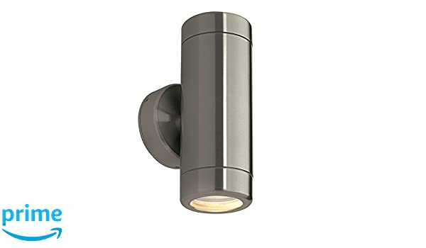 SAXBY ODYSSEY Stainless Steel Outdoor Garden Up//Down GU10 Wall Light IP65