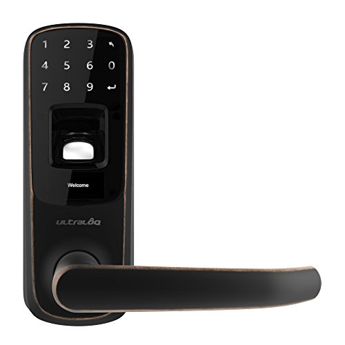 Ultraloq UL3 BT Bluetooth Enabled Fingerprint and Touchscreen Keyless Smart Door Lock (Aged Bronze)