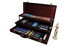 Idea Regalo - Royal Brush - Kit per schizzo e disegno, 134 pezzi