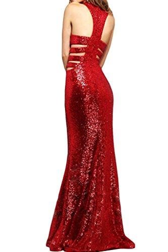 ivyd ressing Femme sexuellement col rond ligne Étui Lave-vaisselle robe Prom robe robe du soir Rouge - Rouge
