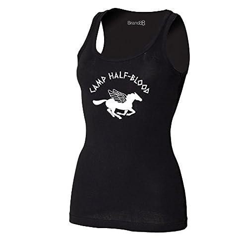 Camp Half-Blood, Damen T-Shirt Ohne Arm - Schwarz L (