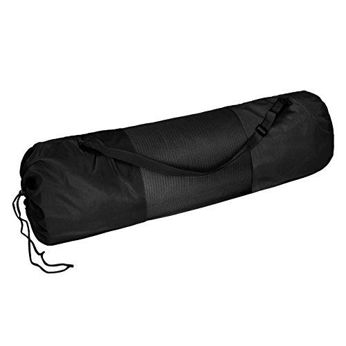 Sac de transport pour tapis de yoga DEA pour tapis < 60 cm large et 22.5 cm diamétre enroulé Pilates Fitness , Couleur:Combat Black