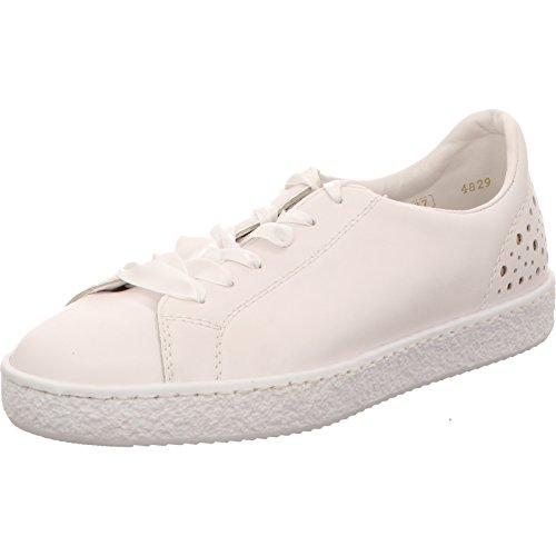 Weiß À 80 Chaussures Rieker Pour Ville Femme L4829 Lacets I6cwz De Blanc ZuOTlkiwPX