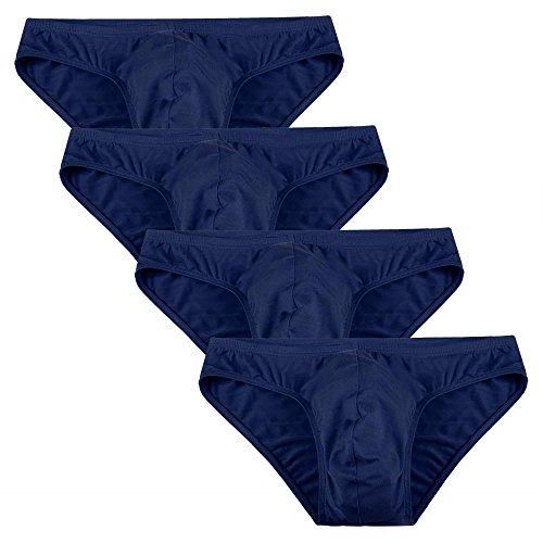 Keland Herren Basic Slips (4 Stück) sportliche Slips Minislips aus Modal in schönen Farben Top-Markenqualität Blau