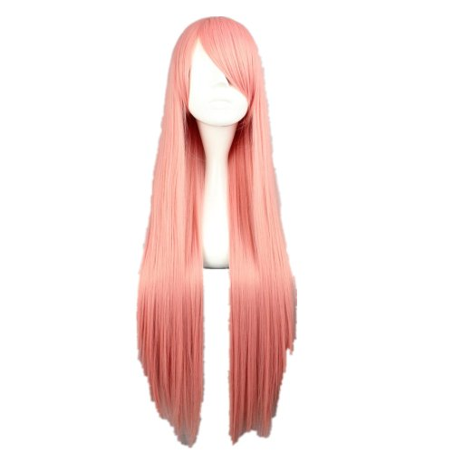 COSPLAZA Cosplay Costume Wigs Perruque 80cm longue raide Vocaloid Luka,Pandora Hearts Lottie Pink rose glamour Halloween Party Cheveux