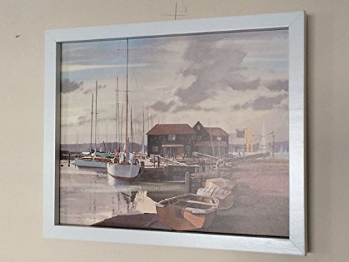 Gerahmte Birdham Pool - Rowland Hilder -30cms x 29cms- 1981 print - Vintage-Poster (Landwirtschaft Gerahmte Kunst)
