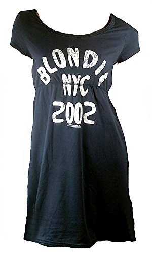 Amplified Elegantly Waisted Damen Dress Kleid Shirt Schwarz Official Blondie NYC 2002 New York City L -