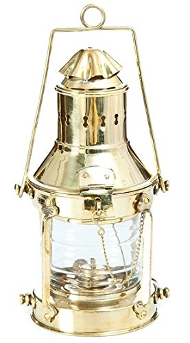 Ship Marine Nautical Hanging Brass Lantern Lamp Deco Anchor Lantern Oil Lamp (Messing Laterne Nautische)
