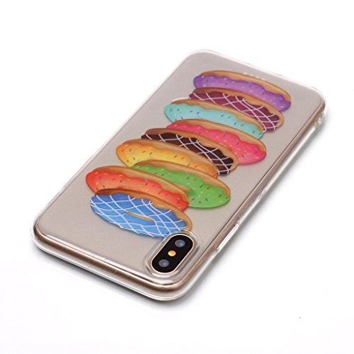 """Hülle für Apple iPhone X , IJIA Transparent Schmetterling Blumen TPU Weich Silikon Stoßkasten Cover Handyhülle Schutzhülle Handytasche Schale Case Tasche für Apple iPhone X (5.8"""") XS72"""