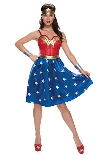 Deluxe Plus Size Long Dress Wonder Woman Fancy dress costume 3X