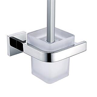 Aothpher poliert zur Wandmontage Toilettenbürstenhalter Toilettenbürste Befestigungsmaterial Wandmontage SUS304 Edelstahl für Badezimmer …