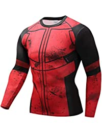 JUFENG Manga Larga Spiderman 3D Impreso Camisetas Hombres Camisas De Compresión 2018 NUEVOS Tops para Hombre