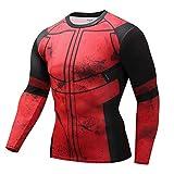 JUFENG Langarm Spiderman 3D Gedruckt T Shirts Männer Compression Shirts 2018 Tops Für Männer Cosplay Kostüm Kleidung,H-M