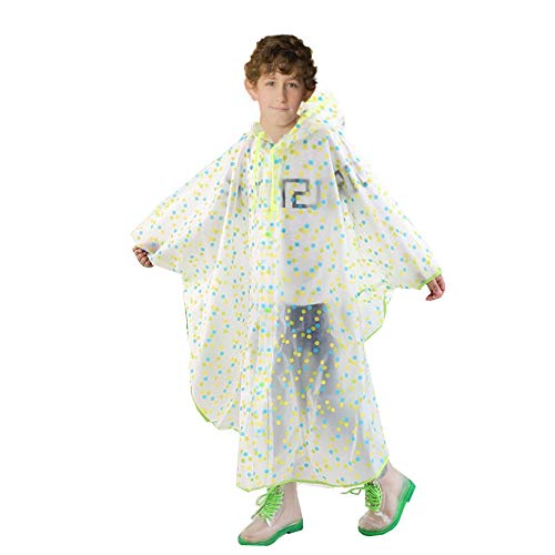 SWIHELP Children Raincoat, Kids Rain Poncho, Reusable And Waterproof Raincoat, Environmental Tasteless Raincoat.