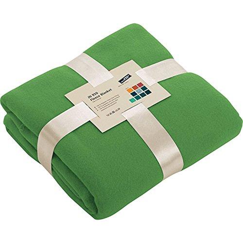 James & nicholson - coperta in pile ultra-soffice, 13 x 170 cm, 11 colori brillanti, verde lime, singolo