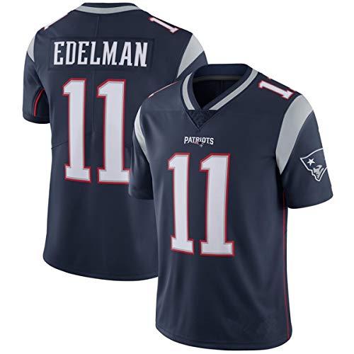 NFL # 12 Brady # 11 Edelman # 87 Gronkowski # 26 Michel New England Patriots NFL Fußball Jersey Herren Fan Jersey Kollektionen Mesh T Shirts Kurzarmshirts Sportswear Westen-11-blue-S