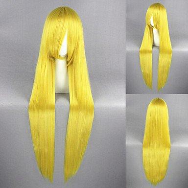 ahom peluca Noble 40pulgadas amarillo limón Sailor Moon sintético Anime Cosplay peluca