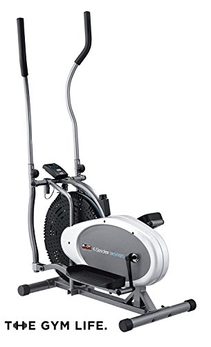 282317ade The Gym Life Durable   Built To Last Dual Action Air Elliptical Cross  Trainer Exercise Bike