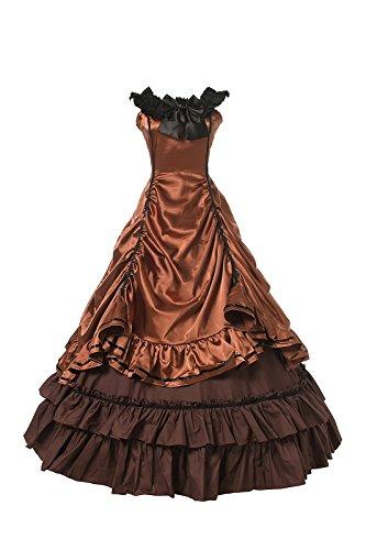 Damen Mittelalterlichen Viktorianischen Kleid Halloween Gothic Cosplay Kostüm (36, CC3502A-NI) (Renaissance-9 Licht)