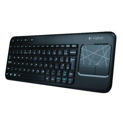 Logitech Tastatur schnurlos mit Touchpad (deutsches Tastaturlayout, QWERTZ)