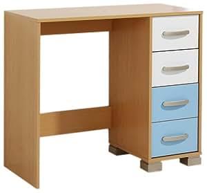 Furniture Solutions Athena Bureau/coiffeuse Hêtre Bleu