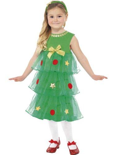 ��m Kleid KINDER 6-8 Jahre Tannenbaum GrM (Weihnachtsbaum Kostüm Kleid)
