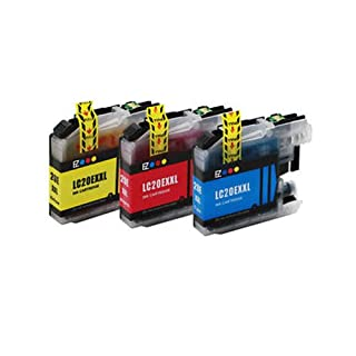 Amsahr B-LC20E Brother MFC-J5920DW Extra High Yield Color Compatible Replacement Ink Cartridges