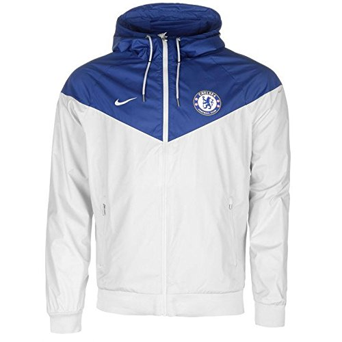 2017-2018 Chelsea Nike Authentic Windrunner Jacket (White)
