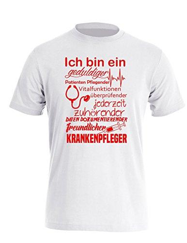 Ich Bin Ein geduldiger, Patienten Pflegender, Vitalfunktion Überprüfender. freundlicher Krankenpfleger - Perfektes Geschenk für Pfleger - Herren Rundhals T-Shirt