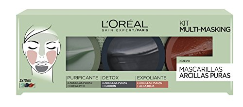 L'Oréal Paris Arcillas Puras Kit Multi-Masking - 1 Kit de 3 Mascarillas Faciales