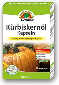 Sunlife Kürbiskernöl Kapseln mit Vitamin E (1 x 50 Kapseln)