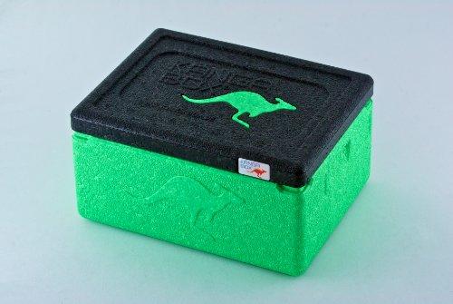 KÄNGABOX Mini EX3075LE lime, Thermobox, Inhalt 1,5 l. Stabil, leicht, klein, stapelbar. Verwendbar als Vesperdose, Vorratsdose, Lunch Box, Kühlbox, Isolierbox oder als Werbeartikel. Als Behälter für Zerbrechliches, Fotozubehör und für Eis und Schokolade. Für Picknick, Camping, Reise, Einkauf, Schule und Arbeit. Farbe: helles grün