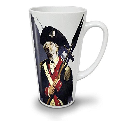 Leutnant Kostüm - Wellcoda Hund Solider Armee Komisch Latte BecherPflicht Kaffeetasse - Komfortabler Griff, Zweiseitiger Druck, robuste Keramik